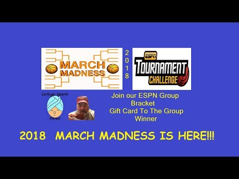 Join Our 2018 ESPN Tournament Challenge Group Bracket Contest  ©