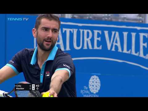 Cilic powers into last eight, Querrey and Lopez also through | Queen's 2017 Highlights Day 4 (видео)