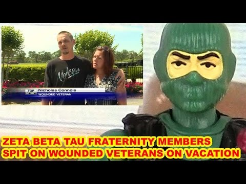 Zeta Beta Tau Fraternity Members Spit On Wounded Veterans – Action Figure Therapy