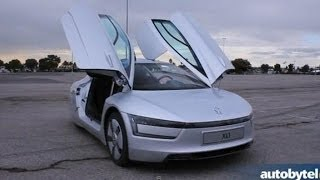 Most-Fuel Efficient Car In The World - 2014 Volkswagen XL1 Walkaround Video Review @ LA Auto Show