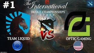 Старт ЧЕМПИОНОВ в ПЛЕЙОФФ TI8 | Liquid vs OpTic #1 (BO3) | The International 2018