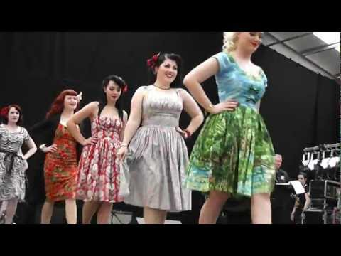 BERNIE DEXTER CLOTHING 1950s ROCKABILLY DRESS COLLECTION Americana 2012 fashion show