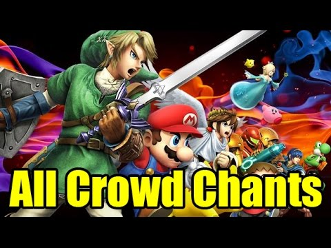 All Character's Crowd Cheering/Chanting In Super Smash Bros Wii U