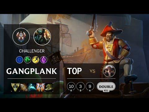 Gangplank Top vs Sett - EUW Challenger Patch 10.6