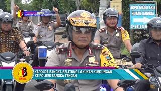 KUNJUNGAN KERJA KE BANGKA TENGAH KAPOLDA BANGKA BELITUNG NAIK MOTOR DAN SEPEDA #TRIBRATA NEWS