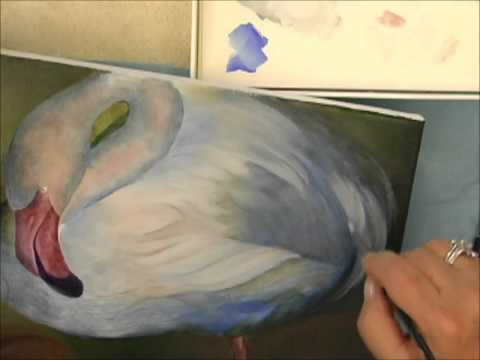 filbert brush - Watch as Neadeen demonstrates how to paint feathers with acrylic paint. The filbert brush is a highly functional brush for acrylic painting techniques. The d...