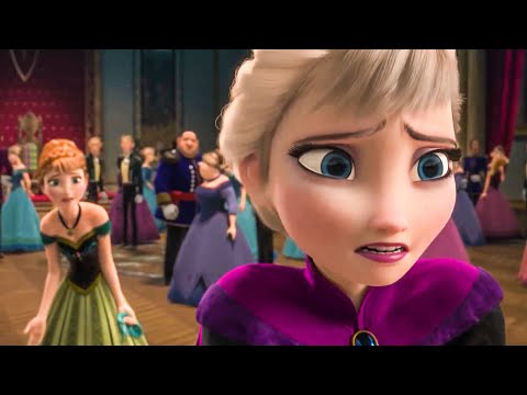 Elsa vs Anna In The Throne Room Scene - FROZEN (2013) Movie Clip