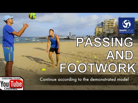 Passing, Footwork, Exercises, Drills, Tips - Beach Volleyball Training. Voley Playa Ejercicios