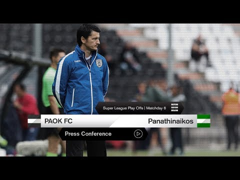 Η συνέντευξη Τύπου του ΠΑΟΚ-Παναθηναϊκός - PAOK TV - Thời lượng: 26:50.