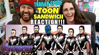 Avengers Endgame Trailer Spoof - TOON SANDWICH - REACTION!!! by The Reel Rejects