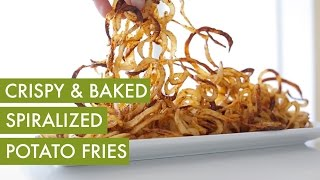 Spiralized Curly, Oven Baked Potato Fries I Vegan & Gluten Free Spiralizer Recipe