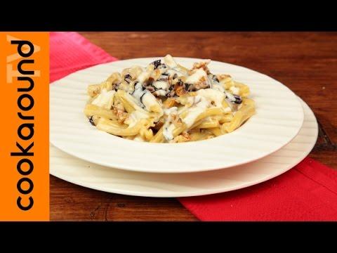 casarecce con gorgonzola, radicchio e noci - ricetta