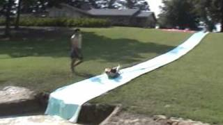 Red Neck Summer Sports and backyard water slide.wmv