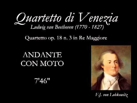 Quartetto op.18 n.3 Re Maggiore - ANDANTE CON MOTO QUASI ALLEGRETTO