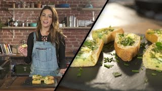 Herb and Goat Cheese Baked Egg Boats | Megan Mitchell by Tastemade