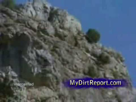 Eagle throws goat off cliff to its death