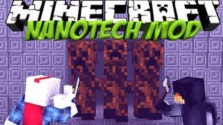 Super Mobs Mod: Minecraft Nanotech Mod Showcase! Creeper Boss!
