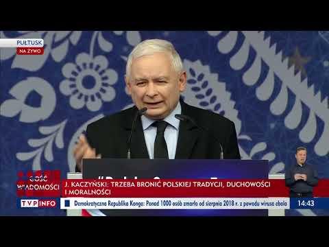 Kaczyński: Kto podnosi rękę na kościół i chce go zniszczyć, ten podnosi rękę na Polskę.