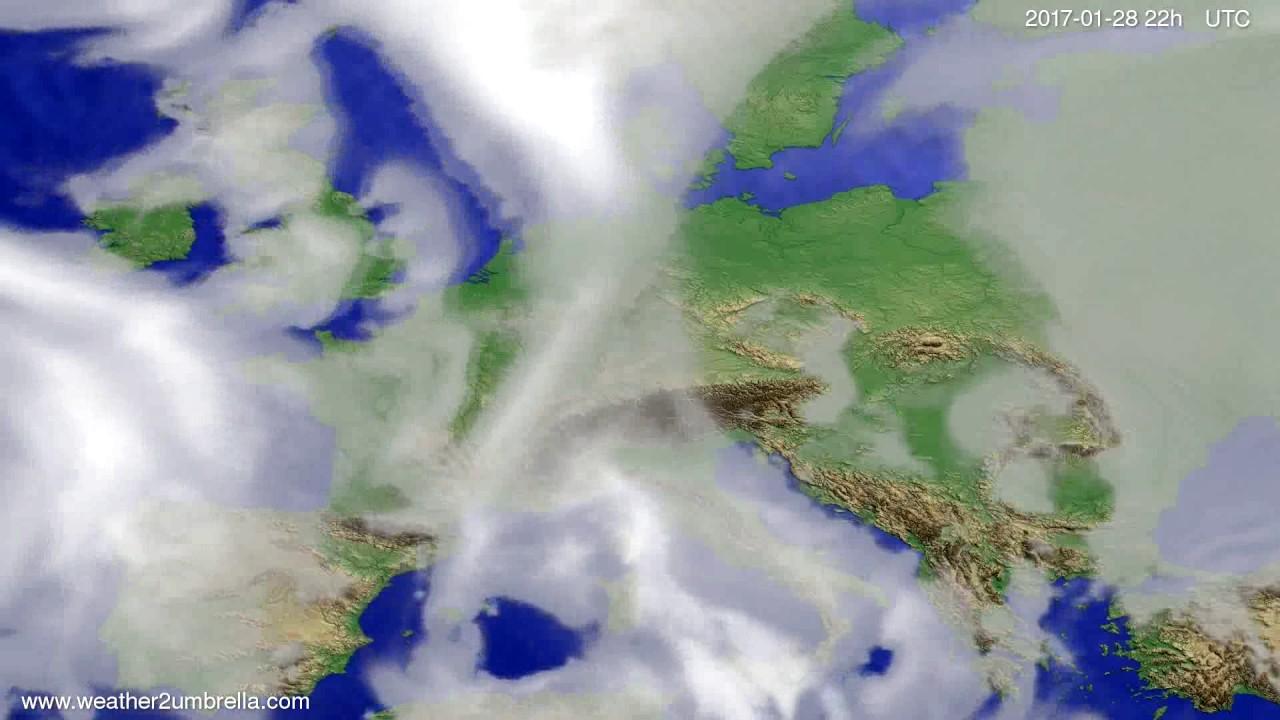 Cloud forecast Europe 2017-01-26