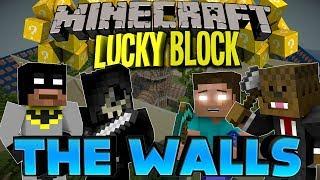Minecraft: LUCKY BLOCK THE WALLS w/JeromeASF, xRpMx13, Taz! (Modded Mini-Game)
