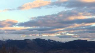 Carreres de núvols damunt el Puigmal,  desembre 2014