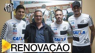 Os atletas Lucas Veríssimo, Jean Mota e Daniel Guedes renovaram seus contratos com o Peixe! Inscreva-se na Santos TV e...