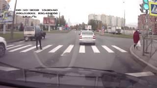 Dostał gazem po oczach za kozaczenie na środku drogi