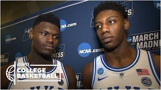 Zion Williamson when the ball rolled off the rim: 'Thank God' | NCAA Tournament Sound