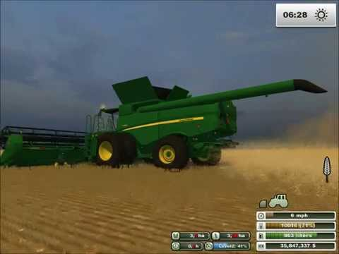 John Deere Combine S680 American Version big Boss Modding in Farming Simulator 2013