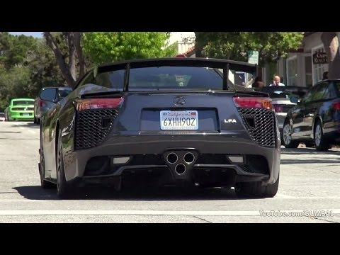 Lexus LFA Nurburgring Edition - Exhaust Sound! Start Up + Driving!