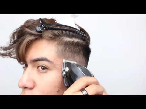 看帥哥如何自己剪頭髮,果然是人才呀!
