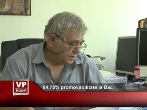 64,78% promovabilitate la Bac