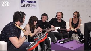 CHVRCHES playing Ignorance by Paramore in Rock Band 4