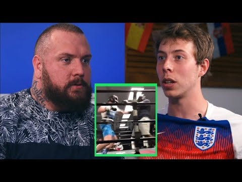 True Geordie and Calfreezy on Logan Paul sparring video (видео)