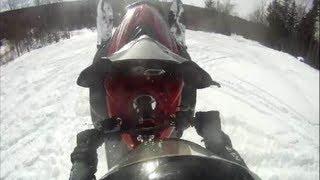 3. Apex Mountain Wheelie Tail Walk Rangeley Maine Snowmobile GOPR0496