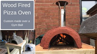 This video is about building a Wood Burning Oven over a gym ball for cooking Pizza.
