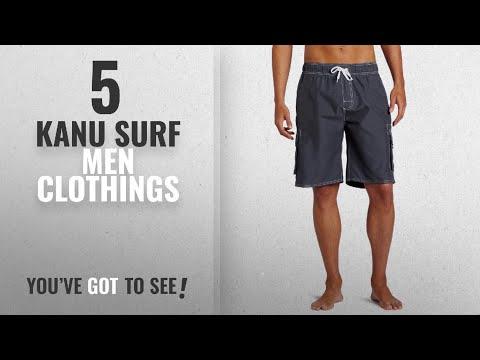 Top 10 Kanu Surf Men Clothings [ Winter 2018 ]: Kanu Surf Men's Barracuda Trunk, Charcoal, X-Large