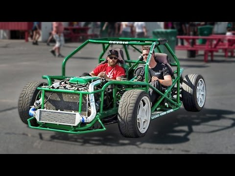 Extreme Drift Kart With Nissan Sr20det Engine Engages In