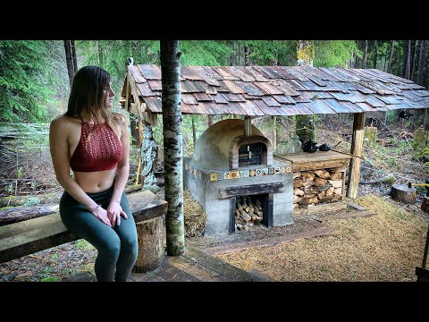 SURVIVING 100+ MPH WIND STORM OFF GRID in a YURT - BRICK OVEN PIZZA | WILD PINE MUSHROOMS - Ep. 114