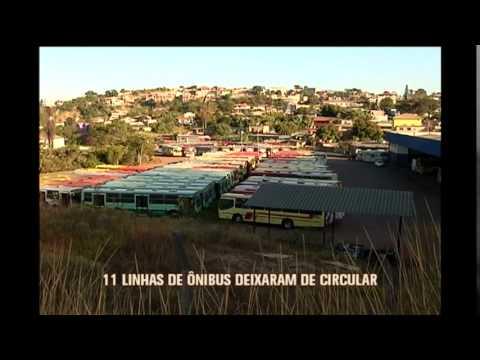 Motoristas de ônibus fazem paralisação em Ibirité