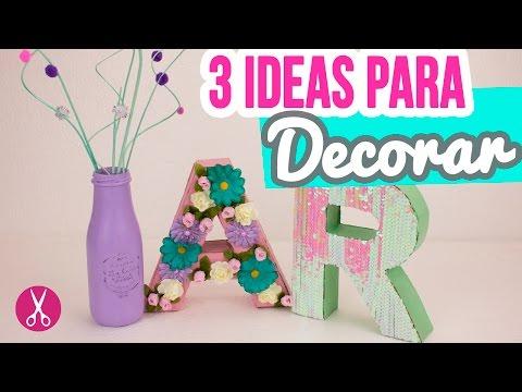 3 ideas para decorar tu cuarto o habitación! - Letras de cartón 3D ...