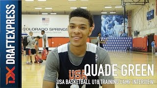 Quade Green USA Basketball U18 Training Camp Interview