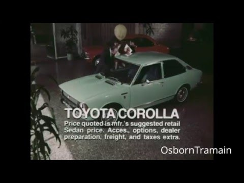 1971 Toyota Corolla Commercial with Frank Bonner & Bert Holland