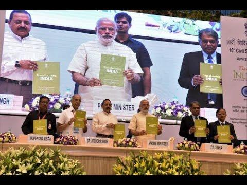 PM Modi at the 10th Civil Services Day awards ceremony in Vigyan Bhawan, New Delhi