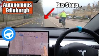 Watch what happens when it thinks a BUS STOP is a lane... - Tesla Autopilot UK City #23 Edinburgh by Pokemon Cards