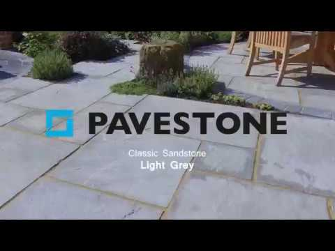 Video of 290mm x 290mm Light Grey Sandstone Paving 150 Pieces