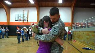 Two Northland girls got the surprise of a lifetime today. Their dad, Army Staff Sgt. Ryan Pierce, has been in Afghanistan for the past year serving his count...