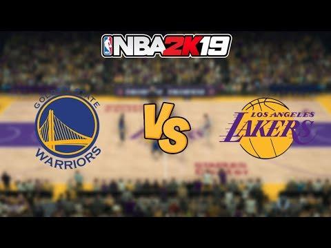 NBA 2K19 - Golden State Warriors vs. Los Angeles Lakers - Full Gameplay