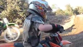 3. 6 year old Dustin Chrest jumping his KTM Mini Adventure 50