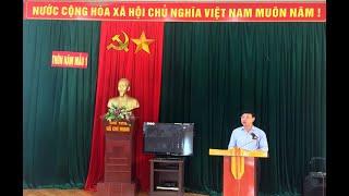 Đồng chí Nguyễn Xuân Ký, Phó Bí thư Thường trực Tỉnh ủy dự sinh hoạt chi bộ thôn Năm Mẫu 1, xã Thượng Yên Công